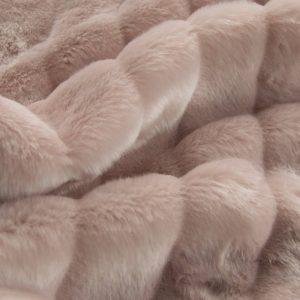 Fausse fourrure de luxe Tissu fausse fourrure texturé imitation vison rose – 1621 Rose