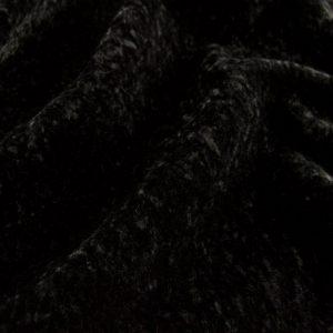 Fausse fourrure de luxe Tissu fausse fourrure au mètre imitation astrakan noir – 1632 Black