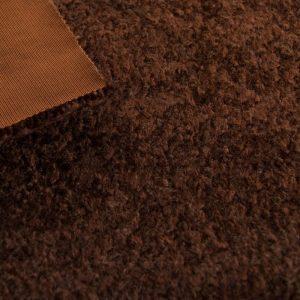 Fausse fourrure de luxe Tissu fausse fourrure au mètre imitation astrakan brun – 1632 Brown