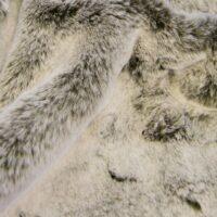 Fausse fourrure au mètre Tissu fausse fourrure super doux façon lapin, brun/blanc – 1633 Lt Brown/White