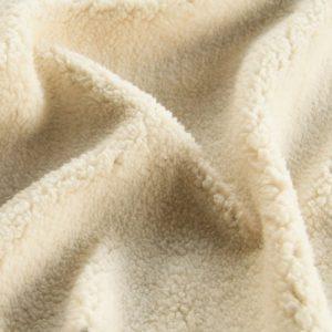 Fausse fourrure de luxe Tissu polaire sherpa au mètre super doux, blanc crème – 2R307 Cream