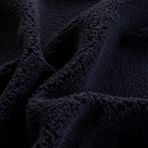 Fausse fourrure de luxe Tissu polaire sherpa au mètre super doux, bleu marine – 2R307 Navy