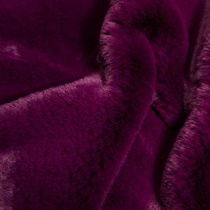 Fausse fourrure de luxe Tissu fausse fourrure super doux imitation lapin, violet – 3091 Violet