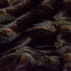 Fausse fourrure au mètre Tissu fausse fourrure texturé imitation vison brun et noir – 7588 Brown/Black