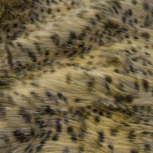 Fausse fourrure de luxe Tissu fausse fourrure au mètre imitation guépard – 1617 Gold/Brown