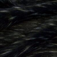 Fausse fourrure au mètre Tissu fausse fourrure noir-argent imitation raton-laveur – 1636 Black/Silver