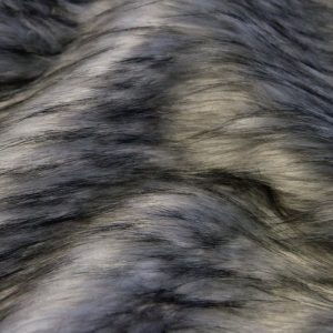 Fausse fourrure au mètre Tissu fausse fourrure gris-argent imitation raton-laveur – 1636 Silver