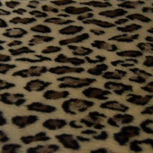Fausse fourrure de luxe Tissu fausse fourrure imitation léopard beige – 1637 Beige Leopard