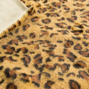 Fausse fourrure de luxe Tissu fausse fourrure imitation léopard brun clair – 3122 Gold Leopard