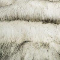 Fausse fourrure au mètre Fausse fourrure imitation renard blanc/noir – 7552 White/Black
