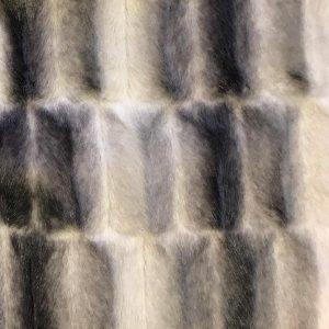 Fausse fourrure de luxe Tissu fausse fourrure au mètre façon vison gris – 7593 Silver/Dk.Grey