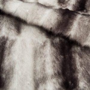 Fausse fourrure au mètre Tissu fausse fourrure au mètre façon vison gris – 7593 Silver/Dk.Grey