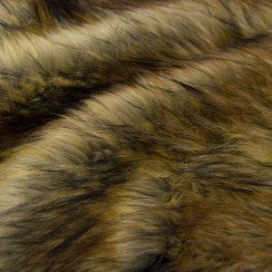 Fausse fourrure de luxe Tissu fausse fourrure brun-beige imitation raton-laveur – 8500 Beige/Brown Raccoon