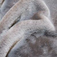 Fausse fourrure au mètre Tissu fausse fourrure super doux imitation lapin, gris – 2R330 Grey