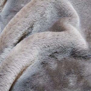 Fausse fourrure de luxe Tissu fausse fourrure super doux imitation lapin, gris – 2R330 Grey