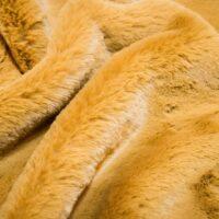 Fausse fourrure au mètre Fausse fourrure jaune moutarde super douce façon lapin – Saluki 2R333 Autumn Gold