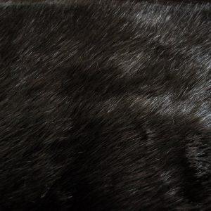 Fausse fourrure de luxe Tissu fausse fourrure super doux vison noir charbon – 1535 Charcoal