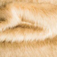 Fausse fourrure au mètre Tissu fausse fourrure super doux façon renard beige – 1611 Plain Fox Beige