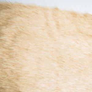 Fausse fourrure de luxe Tissu fausse fourrure super doux façon renard beige – 1611 Plain Fox Beige
