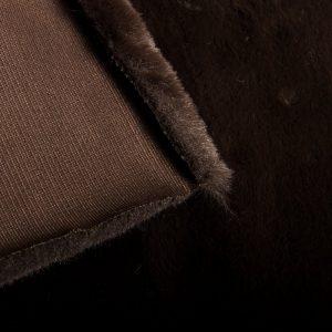 Fausse fourrure au mètre Fausse fourrure marron super douce façon lapin – Saluki 2R333 Mole