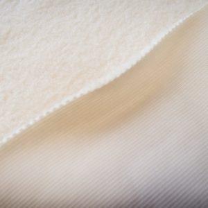 Fausse fourrure de luxe Tissu fausse fourrure mouton/teddy au mètre super doux, blanc crème – 2R349 Cream