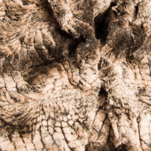 Fausse fourrure de luxe Fausse fourrure façon crocodile, brun doré – 2RK346 Gold Croco