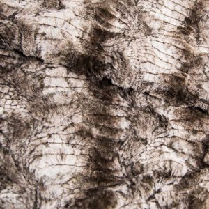 Fausse fourrure au mètre Fausse fourrure façon crocodile, gris argenté – 2RK346 Silver Croco