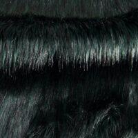 Fausse fourrure au mètre Fausse fourrure imitation renard vert foncé – 7552 Green Black
