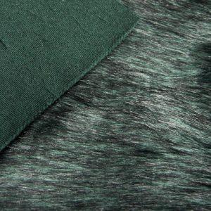Fausse fourrure de luxe Fausse fourrure imitation renard vert foncé – 7552 Green Black