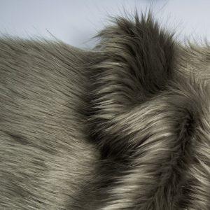 Fausse fourrure de luxe Fausse fourrure imitation renard grise – 7552 Grey