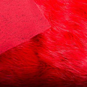Fausse fourrure de luxe Fausse fourrure imitation renard rouge vif – 7552 Red Haze