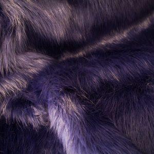 Fausse fourrure de luxe Fausse fourrure imitation renard lilas – 7552 Violet
