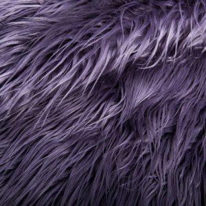 Fausse fourrure au mètre Tissu fausse fourrure violette à poil long agneau de Mongolie – 8104 Purple