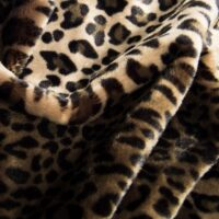 Fausse fourrure au mètre Tissu fausse fourrure imitation léopard beige/brun – 1362 Stone