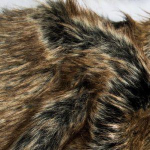 Fausse fourrure au mètre Tissu fausse fourrure super doux noir et or – 1575 Black Gold