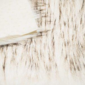 Fausse fourrure au mètre Tissu fausse fourrure super doux noir et blanc – 1575 White Black