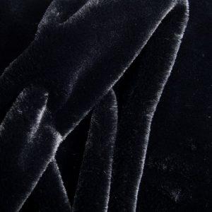 Fausse fourrure au mètre Fausse fourrure noire super douce pour doublure – 2R328 Black