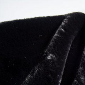Fausse fourrure au mètre Fausse fourrure noire super douce façon lapin – 2R329 Black