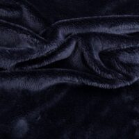 Fausse fourrure au mètre Tissu fausse fourrurebleu marine à poil court au mètre– 2R340 Navy
