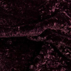 Fausse fourrure au mètre Tissu fausse fourrure aubergine à poil court et bouclé au mètre super doux – 2R355 Aubergine