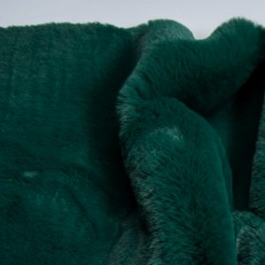 Fausse fourrure au mètre Tissu fausse fourrure super doux imitation lapin, vert – 3091 Alpine Green