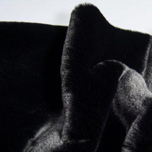 Fausse fourrure au mètre Tissu fausse fourrure super doux imitation lapin, noir – 3091 Black