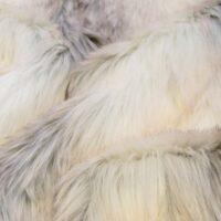 Fausse fourrure au mètre Tissu fausse fourrure imitation loup beige/blanc – 7539 Snow Fox