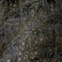Fausse fourrure au mètre Tissu fausse fourrure gristacheté à poil long – 1381 Black/Grey