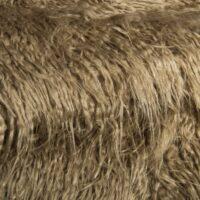 Fausse fourrure au mètre Fausse fourrure brun toile de jute agneau de Mongolie super douce – 1591 Hessian