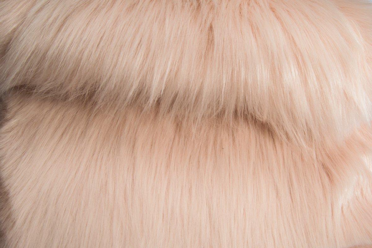 Super Luxe Fausse Fourrure Tissu Matériau-Longs poils poudre bleu pâle