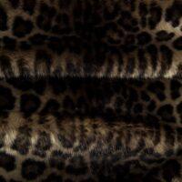 Fausse fourrure au mètre Tissu fausse fourrure leopard – 1570 Stone/Brown