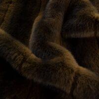 Fausse fourrure au mètre Tissu fausse fourrure façon vison brun naturel – 3125 Brown/Dk.Brown