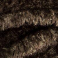 Fausse fourrure au mètre Tissu fausse fourrure à chevrons brun et gris – 4023 Dk.Grey/Dk.Brown