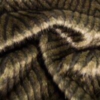 Fausse fourrure au mètre Tissu fausse fourrure texturé brun et ardoise – 4014 Slate/Brown